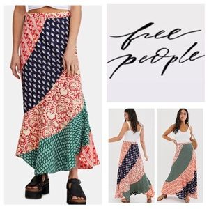 Free People Medley Printed Maxi Skirt.  NWT.